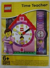 Lego Time Teacher Clock & Watch Girls Pink Educational Set New (Box Damaged)