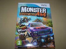 Monster Stunt Racer 4 X 4 Wii ** ** Nuevo y sellado.