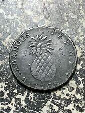 1788 Barbados 1 Penny Lot#Z4933 Rim Damage