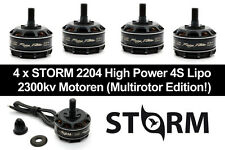 4x Storm 2204 2300kv HIGH POWER RACING MOTORI PER 4s LiPo FPV RACING Quadcopter