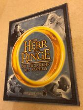**LORD OF THE RINGS RARE GERMAN POSTER BOOK MAGAZINE EXCELLENT CONDITION**