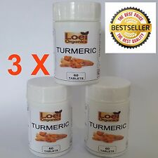 180 Pill Tablet Max Purity Turmeric Curcumin 2500mg Dose With BioPerine Pepper
