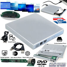 PC Laptop USB To Sata CD DVD Rom RW Drive External Caddy Case Enclosure Cover UK