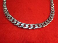 """18-36"""" MENS STAINLESS STEEL SILVER 9MM CURB CHAIN NECKLACE W/SPECIAL CLASP"""
