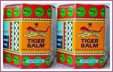 2 x TIGER BALM RED HERBAL RUB MUSCLES PAIN RELIEF HEADACHE 30 g.(BIG JAR)