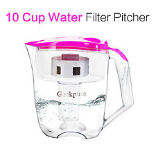 6 Stage 10 Cup Water Filter Pitcher Reduce 99% Bacteria Hardness-NO BPA