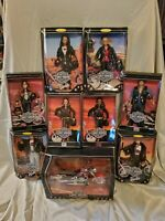 Harley Davidson Barbie Collection Lot Of 8 dolls/1 Motorcycles/ NIB