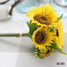 7 Heads Artificial Silk Sunflower Flower Home Wedding Party Bouquet Decor
