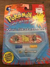 X Concepts Pokemon Mini-Skateboard PIKACHU 1998 New in Package *NIP*