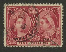 Canada 1897 QV Jubilee $1.00 lake #61 used Partial CDS