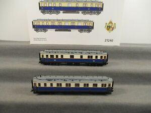 "Trix H0 21240 Personenwagen-Set 2-teilig ""Hofzug Kaiser Wilhelm II."" in OVP"