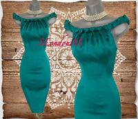 Size 10 KAREN MILLEN Green Satin Braid Neckline Cocktail Wiggle Pencil Dress 38