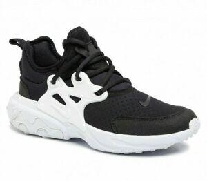 New Boys Girls Ladies Womens Nike React Presto GS Black White Trainers UK Size 6