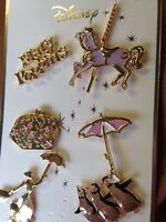 DISNEY NEW MARY POPPINS PIN BADGES SET OF SIX NEW Christmas Gift PRIMARK