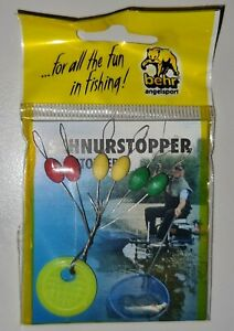 5-6x Schnurstopper Line Stopper XXL-XXXXL Gummistopper Posenstopper
