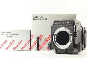 【 UNUSED in Box 】MAMIYA RB67 Pro SD Body WLF + 120 Film Back From JAPAN #677