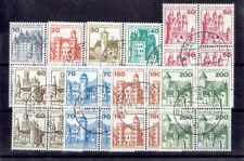 Berlin Bogenmarken Viererblocks o MiNr 532-540 Burgen und Schlösser