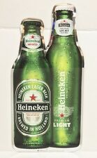 "Heineken & Heineken Light Bottles Hard Plastic Beer Sign 23x12"" - Brand New!"