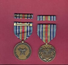 War on Terror Expeditionary medal with ribbon bar in blue cardboard box GWOT