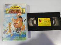 Timon Y Pumba Intorno del Mondo VHS Nastro WALT DISNEY Spagna Castellano