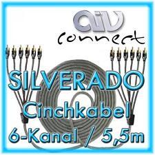 AIV Connect 890254 6-Kanal-Cinchkabel SILVERADO 5,5m 550cm