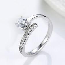 Damen Wrap Ring Zirkonia  echt Sterling Silber 925 rhodiniert offen