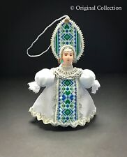 Christmas Ornament Beautiful Russian Doll NEW Handmade Hand painted Vintage 801