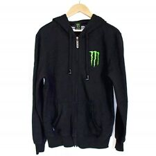 Hoodie Buddie MONSTER Energy drink mens full zip front sweatshirt hoodie black M