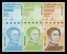 B-D-M Venezuela Set 10000 20000 50000 Bolívares 2019 (2020) Pick New(2) SC UNC
