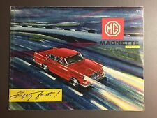 1960 MG Magnette Sedan Showroom Advertising Sales Folder Brochure RARE!! Awesome