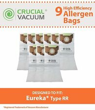 9 Replacements Eureka RR Paper Vacuum Bags Part # 61115, 61115A & 61115B