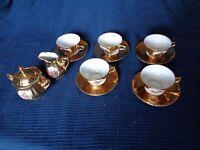 Servizio IN Porcellana Oro Scena Galante Marca Bavaria 3