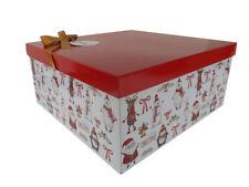 SANTA SNOWMAN RUDOLPH CHRISTMAS Gift Box Kit, Tissue Paper, Gift Tag & Bow (LG)