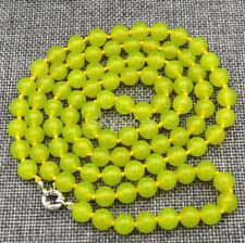AAA 36 Inch Fashion 10mm green peridot gemstone bead necklace