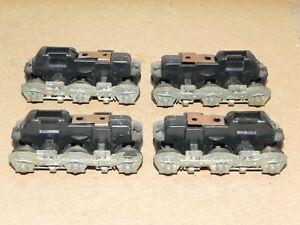 Athearn HO Parts 2 Pair Early SD45 Dummy Locomotive Trucks w/ Cast Sideframes