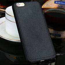 Thin TPU Leather Grain Soft Back Case Phone Cover Skin For iPhone 5 6 6s Plus CA