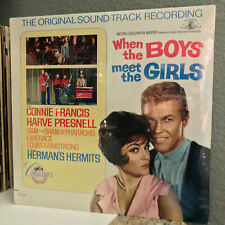 """WHEN THE BOYS MEET THE GIRLS Movie Soundtrack - 12"""" Vinyl Record LP - SEALED"""