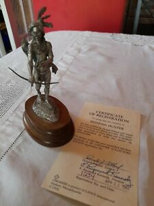 Vintage pewter figure by Donald Polland