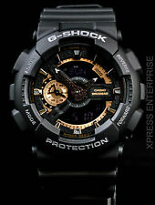 NEW WITH TAGS Casio Gshock X-Large Ana-Digi GA110RG-1A BLACK ROSE GOLD Watch