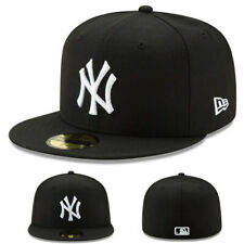 New Era New York Yankees Black White Kids Fitted Hat Youth Child MLB League Cap