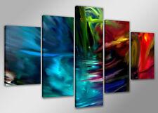 Images sur toile 200x100 Visario V le couleur Nr 6315 abstrait pret a accrocher