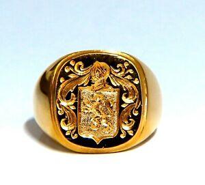 Royal Crest Coat of Arms 14kt Signet Ring