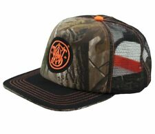 SMITH & WESSON *BLACK & REALTREE CAMO FLAT BILL MESH* TWILL HAT CAP *NEW* SW49