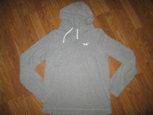 Mens HOLLISTER soft hooded tee t shirt sz XL