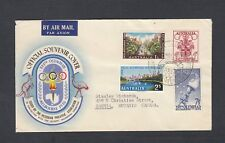 AUSTRALIA 1956 MELBOURNE OLYMPICS FIRST DAY COVER FDC TO CANADA