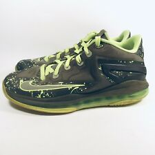 Nike Air Max Lebron Xi 11 Sneakers Shoes Low-Top 644534 Grey Green Boys Us 6.5 Y