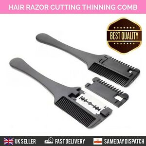 HAIR TRIMMING RAZOR COMB BRUSH GROOMING BLADE TRIM THINNING AND CUTTING HAIR