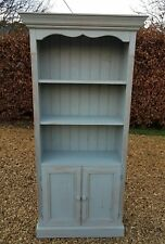HAND PAINTED 6FT TALL SOLID PINE DRESSER / BOOKCASE  (MANOR HOUSE GRAY F&B)