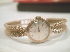 LADIES OMEGA GOLD WATCH AND BRACELET  9ct gold 375