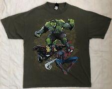 Marvel Comics Spiderman Hulk Ironman Graphic T Shirt Men XL